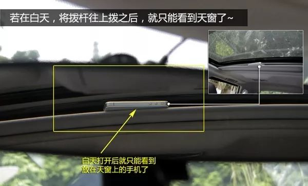 活用车内防眩目后视镜